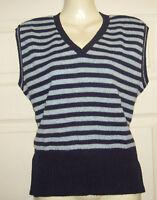 Ladies/girls blue stripe tank top sleeveless jumper ANIMAL Size L/XL 10 12 14