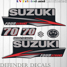 Suzuki 70 hp Four Stroke outboard engine decal sticker set kit reproduction 70HP
