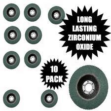 "10 Pacco 80 Grit Medium Zirconio lunga vita patta Levigatura RUOTE 115MM 4 1/2 """