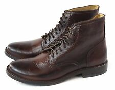 FRYE Mens Oliver Lace Up Chukka Boot Dark Brown Leather Size 12 M