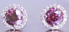Fancy Pink Stud Earrings Natural Diamond 2 Carat 14k WG Valentineday Spl. Sale
