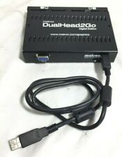 MATROX DUALHEAD2GO DIGITAL EDITION D2G-A2D-IF W/ USB 2.0 CABLES