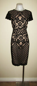 Portmans signature designer size 14 lace cocktail evening wedding party dress