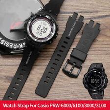 For G-shock PRW-6000/6100 PRW-3000/3100 Resin Silicone Watch Strap Bracelet Band