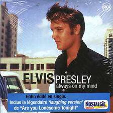☆ CD SINGLE Elvis PRESLEY Always on my mind 2-tr NEW ☆ FRENCH STICKER RARE