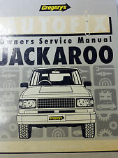 Gregorys SP No 603 Autofix Holden Jackaroo 1981 – 1992 Owners Service Manual
