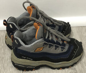 Skechers Sports Toddler Boys Gray Sneaker Athletic Baby Shoes Size 6.5