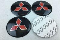 4pcs 65mm Wheel center Hub Sticker Cover Caps Logo Emblem for Mitsubishi Black