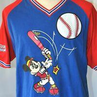 Mickey Inc Mouse Vtg Baseball L Jersey Large Mens Disneyland Disney Athletics