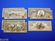 1896 Educational Set + Bonus Reprduction U.S. Currency Paper Money Copy