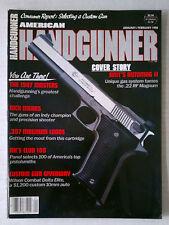 HANDGUNNER FIRE ARMS AMMO WEAPONS RIFLES MAGAZINE 9MM 45 1988 JANUARY FEBRUARY