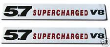 NEW 5.7 Supercharged V8 Emblems (2)