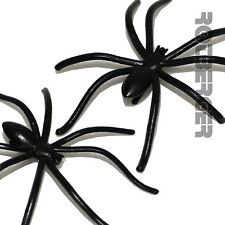 50 X PVC schwarz Spinnen Halloween Party Dekoration