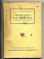 Pagenstecher # I MISTERI DELLA PSICOMETRIA # Bocca 1953