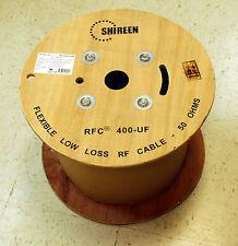 Low Loss 400UF  500' foot Spool reel RFC400UF   LMR-400UF LMR400UF ultraflex
