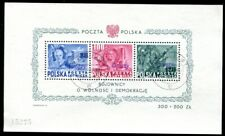 POLEN 1950 BLOCKA11 gestempelt GROSZY AUFDRUCK signiert FALKOWSKI 2200€(H5096