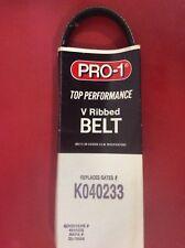 Serpentine V Ribbed Belt Pro-1 K040233 5040238 Fits Mitsubishi Buick Pontiac