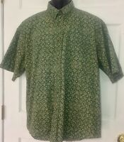 Pendleton Mens Shirt Large Short Sleeve Hong Kong One Pocket Button Down Collar