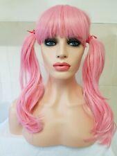 Pink wig pigtail, cosplay miku vocaloid, amino, magica, long bangs, fringe