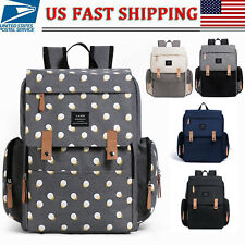 LAND Mommy Backpack Diaper Bag w/ Roller Hook Baby Diaper Changing PAD