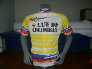 COLOMBIA VINTAGE BIKE JERSEY CAFE COLOMBIA RETRO BIKE SHIRT COOL COLUMBIAN SIZ L