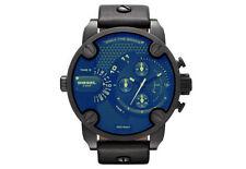 Diesel DZ7257 Black Chronograph Blue Glass Men's Wrist Watch with Box