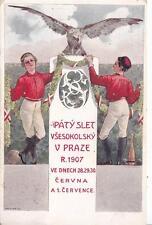 A8749) CECOSLOVACCHIA, PATY SLET VESOKOLSKI V PRAZE R. 1907. VIAGGIATA.
