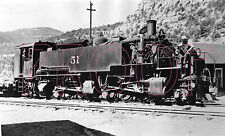 Uintah Railway (URY) Engine 51 at Atchee, CO in 1936