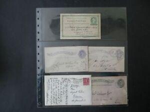 Kanada Sammlung Briefe und Ganzsachen incl Neufundland Gesamt 50 Stück 1884-1950