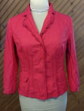 Elie Tahari Jacket Top Women's Size 6 Pink Shade Snap Front Pleated Great Shape