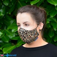 MASKERAID Animal Print Cotton Face Mask Mouth Nose Reusable Machine Washable
