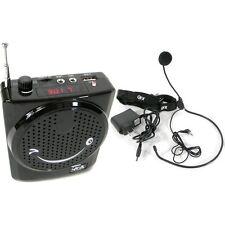 AMPLIFICATORE PORTATILE CON MICROFONO AD ARCHETTO RADIO FM USB GUIDA ANIMATORE
