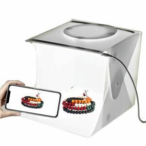 Collapsible LED Light Box DIY Photo Studio Photography Tent Backdrops Case