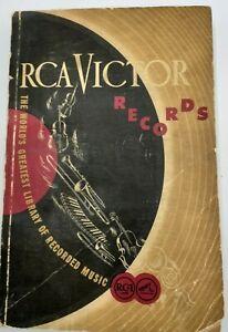 1948 Vintage RCA Victor Records Catalogue
