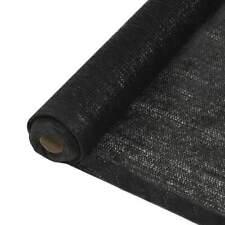 vidaXL Privacy Net HDPE 3.2'x32.8' Black Balcony Patio Sunshade Screen Shield