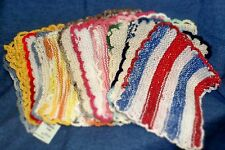 **NEW** Hand Crocheted Dish Wash Cloth Scrubbies - Set of 4, Assorted Colors