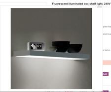Fluorescent illuminated Memphis Box Aluminium Shelf Light 240V L & S 1200mm 28w