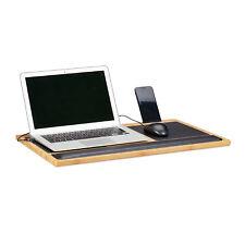Laptoptisch Knietablett Betttablett Unterlage Laptopständer Laptophalter Bambus
