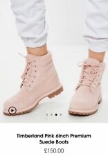 Size 4 Timberland Pink 6Inch Premium Suede Boots