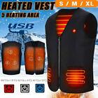 Electric USB Heated Vest Warm Body Heating Coat Jacket Men Women Winter Outwear