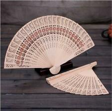 Folding Fan Handheld Chinese Sandalwood Scented Hand Held Fold Pretty Fans Gems