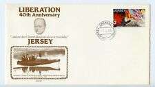 Jersey 1985 FDC postal stationery envelope Liberation 40th anniversary (R285)