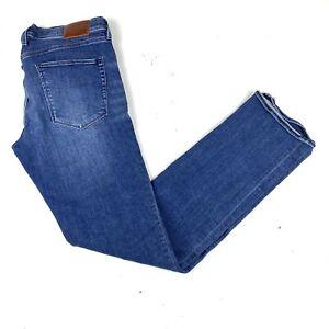 Madewell Rail Straight Blue denim jeans Medium Wash Sz 30 Stretch