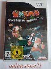 Worms Odyssee im Wurmraum Nintendo Wii Neu Deutsch