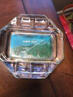 Vintage Souvenir Glass Ashtray Nova Scotia Cabot Trail Decor Novelty