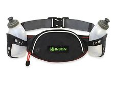 """Hydration Belt for Running Jogging Walking  7"""" x 4"""" Pouch with Two Water Bottles"""