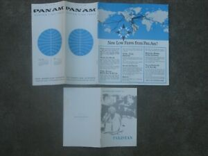 PAN AM 1963 SYSTEM TIMETABLE & PAN AMERICAN'S GUIDE TO PAKISTAN BROCHURE