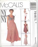 McCall's 7646 Misses' Dress in Two Lengths  Sewing Pattern
