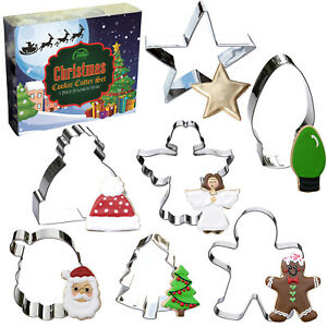 Christmas Cookie Cutter Set, 7 Piece, Stainless Steel