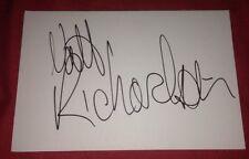 MATT RICHARDSON SIGNED 6X4 WHITE CARD TV AUTOGRAPH TV PRESENTER THE XTRA FACTOR